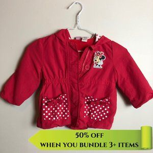 Minnie Mouse Red Polka Dot Hooded Jacket